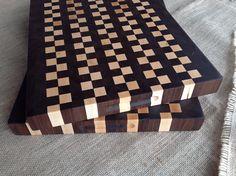 Black Walnut and Maple End Grain Cutting Board