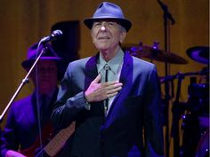 Montreal native Leonard Cohen acknowledges cheers of the crowd as he takes the stage for his concert at the Bell Centre in Montreal Wednesday, November 28, 2012.
