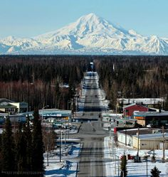 Soldotna, Mt. Redoubt in the background..a road well traveled back to Homer..missing Charles