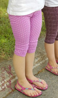 Sprouting JubeJube: Free Leggings Pattern by E+M Patterns (3/4 length)