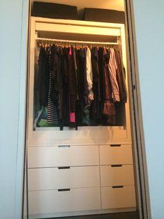 Garde robe ultra simple avec NORDLI et MALM A découvrir sur http://www.bidouillesikea.com/bidouilles/chambre/garde-robe-ultra-simple-nordli-malm