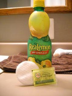 Lemon Sugar Face Scrub!