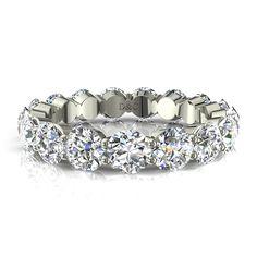 Alliance diamant rond anneau diamant pour femme, or blanc 5 carats Acacias  #diamants #SolitaireDiamant #Solitaire4Griffes #capucine #PendentifDiamant #OrBlanc #PendentifDiamantPrincesseAura #diamantsetcarats #OrJaune #Over500