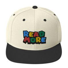 Warp to the public library and get your book on! This hat is structured with a classic fit, flat brim, and full buckram. The adjustable snap closure makes it a comfortable, one-size-fits-most hat. Dad Caps, Caps Hats, Snapback, Camo, Baseball Hats, Campaign, Wool, Retro, Medium