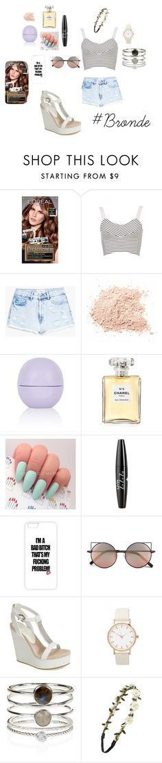 """""""Kate"""" by be1a3 ❤ liked on Polyvore featuring L'Oréal Paris, MANGO, Topshop, Chanel, NYX, Linda Farrow, Lola Cruz, Accessorize, BP. and women's clothing"""