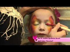 Vlinder- face painting butterfly - using splitcake rainbowcake