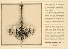 1921 Beardslee Chandeliers AD