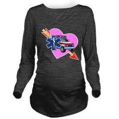 EMS Care Heart Long Sleeve Maternity T-Shirt