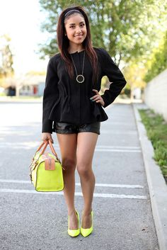 Black & (neon) yellow