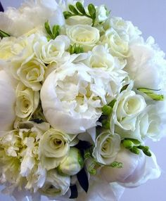 White peony bouquet - Wedding Day Pins : You're Source for Wedding Pins! White Peonies Bouquet, Peony Bouquet Wedding, White Wedding Bouquets, Bride Bouquets, Rose Bouquet, Wedding Flowers, White Flowers, Boquet, Ivory Wedding