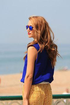 Blue Skies And Shiny Stars  #Shirts & Blouses #Graphic #Pants