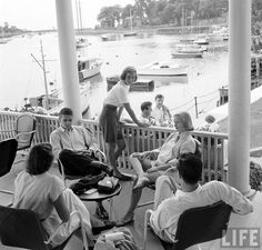Summer in Fairfield County Connecticut - Waspy people doing waspy things - Summer 1948 & 1949 - Mother and I both ran around there in barefeets summertime fun and boating - think that is Pequot Yacht Club. Ivy Style, Fairfield County, Old Money, Prep School, Yacht Club, Lake Life, Southport, Life Magazine, Back In The Day