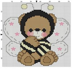 Resultado de imagem para graficos ponto cruz ursinhos