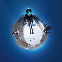 Yeah buddy! @tjwallasch hold a #GoPro spherical setup with 6 cameras on a 3-Way handle as he races down the #XGames skiercross course. #GoProSnow by gopro