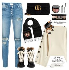 """Winter sweaters"" by jan31 on Polyvore featuring Petar Petrov, Mother, Gucci, Bobbi Brown Cosmetics, jeans, sweaters and anklebooties"