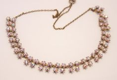 Vintage pink lilac flower and rhinestone by chicvintageboutique, $25.00