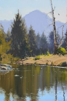 Australian landscape paintings by John Wilson. - - Australian landscape paintings by John Wilson. painting Australian landscape paintings by John Wilson. Landscape Artwork, Abstract Landscape, Landscape Oil Paintings, Tree Paintings, Contemporary Landscape, Oil Painting Flowers, Beautiful Landscapes, Painting Inspiration, Watercolor Paintings