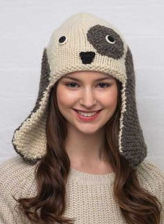 Knitted dog hat so freaking cute