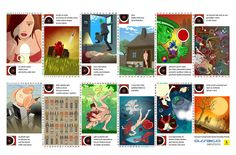 Agda Bavi Pain - Calendar 2012. Illustrations by Milos Gasparec (SK). 201212/29 Pravda - Slovak Daily Newspaper