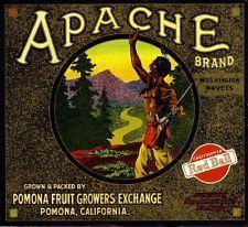 Pomona Apache #1 Orange Citrus Fruit Crate Label Art Print
