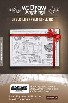 Chevrolet Corvette C7 Z06 Laser Engraved Wall Art Poster Etsy Car Guy Gifts Laser Engraving Car Art