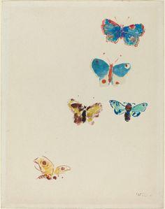 Odilon Redon | Five Butterflies (c. 1912) | Artsy