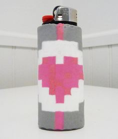 Portal Companion Cube Perler Bead LIGHTER CASE by LighterCases, $10.00 ©