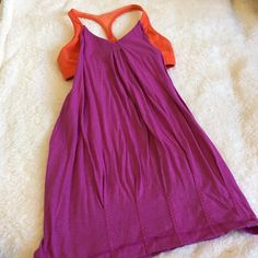 Lululemon Tank Lululemon Tank has bralette with tank. Sides open and mid section loose but bottom scrunches with dealings. In EUC! Super cute one of my favorite styles! lululemon athletica Tops Tank Tops
