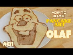 How to make Pancake art tutorial - Olaf from frozen | ホットケーキでお絵かき - YouTube