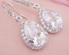 Crystal Teardrop Earrings Bridal Jewelry Bridal Earrings Wedding Earrings Wedding Jewelry Crystal Drop Earrings