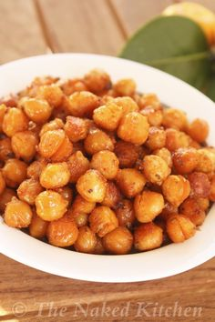 Spicy Roasted Chickpeas - The Naked Kitchen