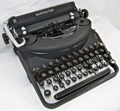 Vintage Working Remington Noiseless Typewriter by anodyneandink, $200.00