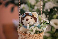 Mesa de cha de bebe menino com o tema balão de ar