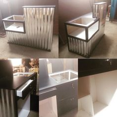 On progress Cashier Table... #insinyurkayu #depok #Indonesia #mejakasir #kasir #plywood #hpl #industrialfurniture #woodwork #woodworking de insinyurkayu
