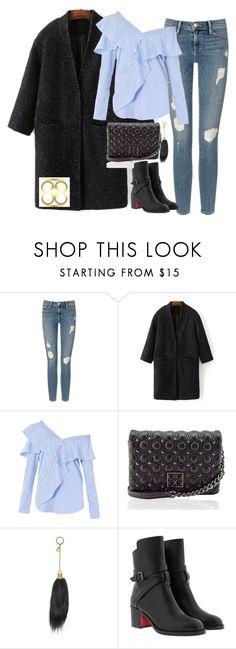 """""""WIn bag of your choice from eightyeight-88 @eightyeight-88"""" by mamzelleyaa-05 ❤ liked on Polyvore featuring Frame, WithChic, FAIR+true and Christian Louboutin"""