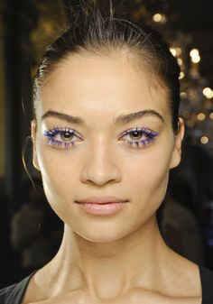 MAC Electric Blue Mascara at Stella McCartney runway show