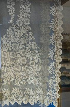 Here is the veil the Queen wore at Mass, particularly on feast days when she received Holy Communion. (Via Louis XX.) It is kept at the shri...