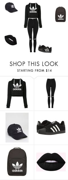 """""""adidas life"""" by sladams3 ❤ liked on Polyvore featuring adidas and Topshop"""