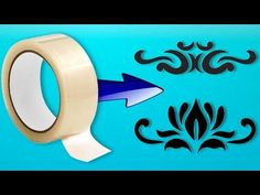 Stencil of adhesive tape for decoration Stencil Templates, Stencil Patterns, Stencil Diy, Stencil Painting, Acrylic Rangoli, How To Make Stencils, Fabric Stamping, Embossing Machine, Mandala Painting