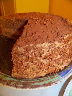 Czekoladowy tort z masa z kaszy