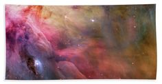 Bath time can be so much more enjoyable when you look forward to being wrapped up in this cool Orion Nebula bath towel.  #Bathtowel #Bathroon #OrionNebula #Space