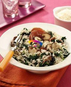 Risotto con funghi e spinaci freschi   Cucinare Meglio