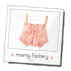 Dragee pink coloured bloomer for baby girls. Hand-knitted by our French  grannies, 93f43342414