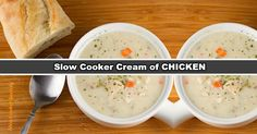 Share573 Pin618 Tweet +1Shares 1KDelicious Slow Cooker Cream of Chicken Soup you will cook again and again. Weather is changing so quick nowadays… a warm soup is always appreciated in cooler evenings. This slow cooker Cream of Chicken and Wild Rice Soup is everything it should be… creamy, comforting, loaded with chunks of chicken, carrots, …