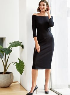 Buy Baukjen Black Savannah Dress from the Next UK online shop Winter Dress Outfits, Spring Outfits, Slim Fit Dresses, Black Bodycon Dress, Classy Dress, Elegant Woman, Feminine Style, Savannah Chat, Wedding Outfits