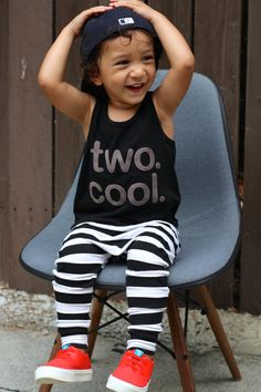 TWO. COOL. Baby Boy Toddler Boy two cool Tank Top by MEandREEKIE