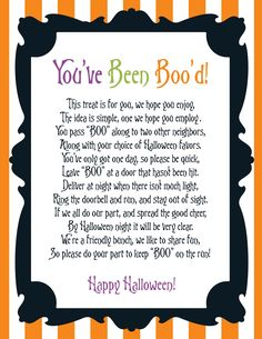 Party NV: {Freebie Friday} You've Been Boo'd Halloween Printables