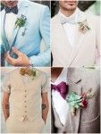 gravata borboleta estampada terno claro casamento noivo 1