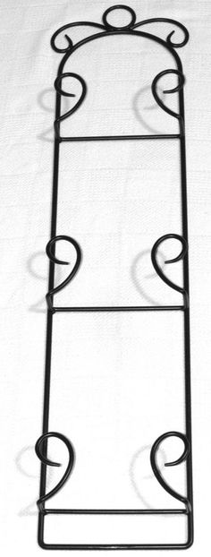 Wrought Iron Metal Scroll 3 Tier Plate Rack/Holder Black  sc 1 st  Pinterest : wrought iron 3 tier plate stand - pezcame.com