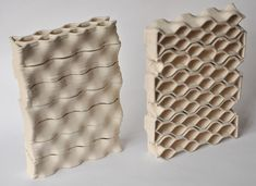 architect Brian Peters has adapted a desktop printer to produce ceramic bricks for building architectural structures Design 3d, Brick Design, Modular Design, Store Design, 3d Printing Materials, Building Materials, Materials Science, Impression 3d, 3d Printed Building